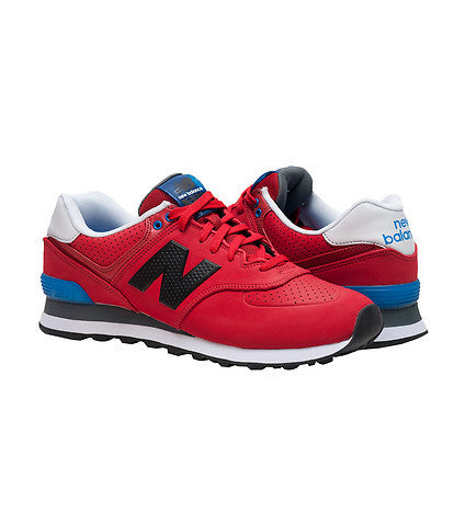 New Balance Men's 574 Classics Ml574ACC Paint Chip Red/black Retro