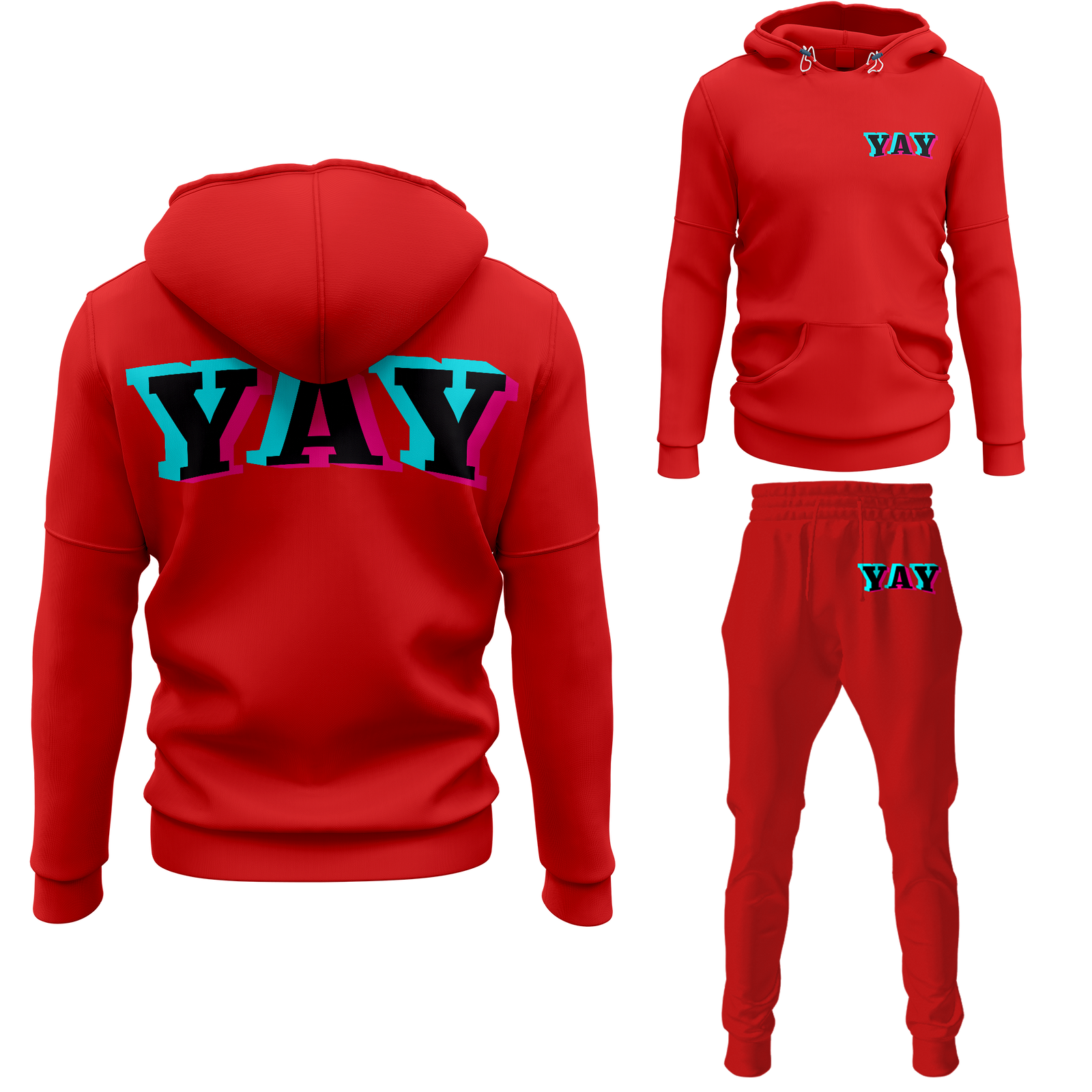Men's Glitch Yay Pullover Sweatsuits