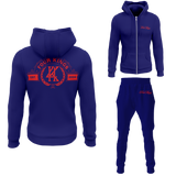 Four Kings Men's V1 Zipped Sweatsuit (Navy Blue)