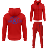 Four Kings Men's V1 Zipped Sweatsuit (Red)