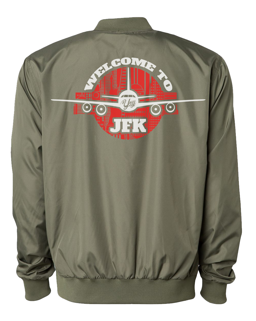 Mono YAY JFK NYCBG Bomber Jacket (Army Green)