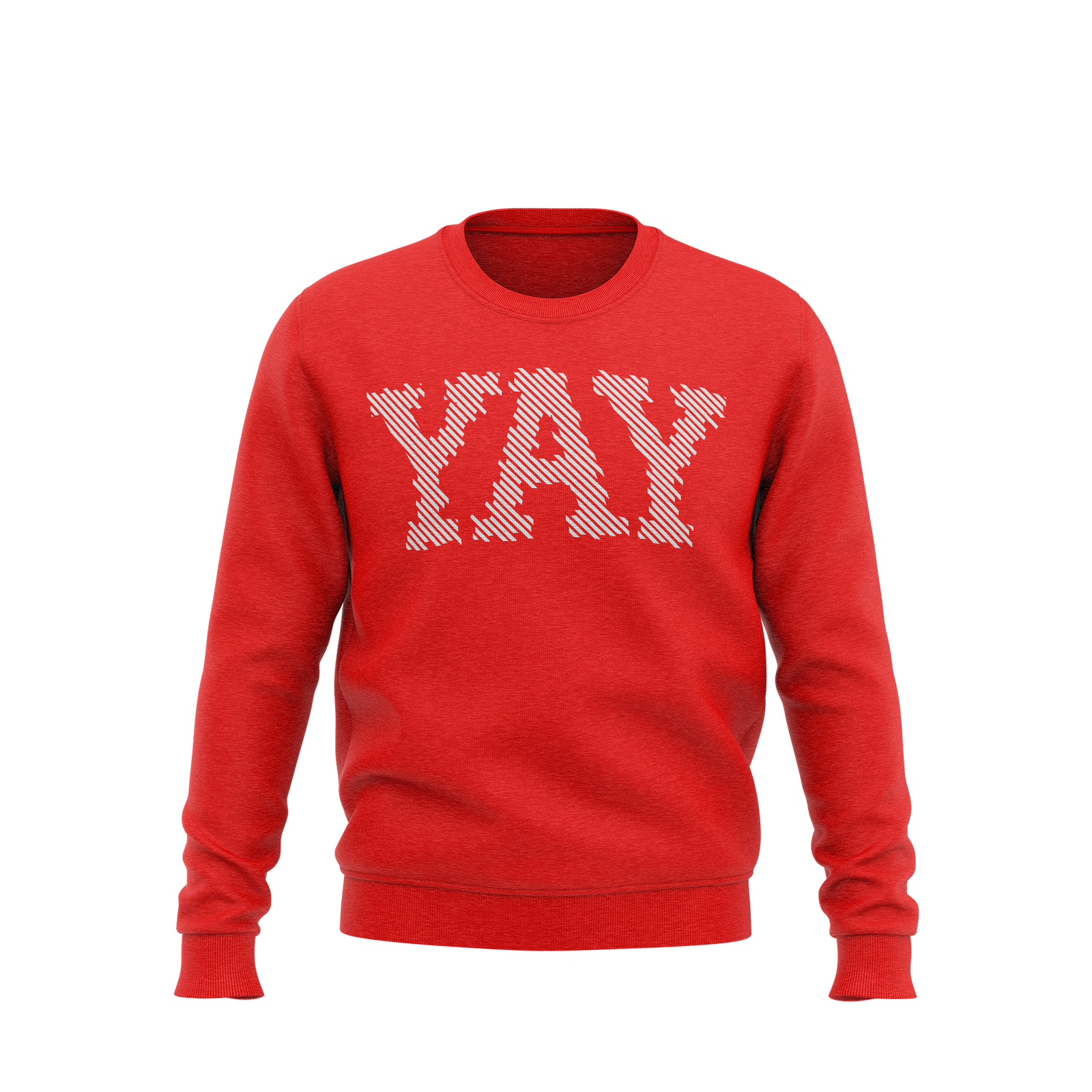 YAY Lines Crewneck Sweatshirt (Red)