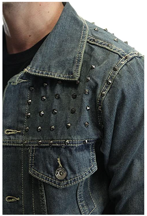 Yay Press Vintage Spiked Denim Jacket