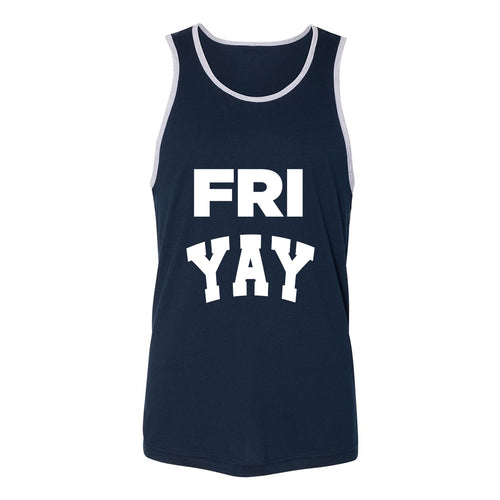 Fri Yay Tank Top White/Black