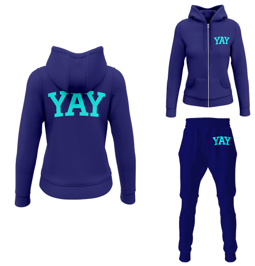 Blue Womens Yay Block Zipped Sweatsuits
