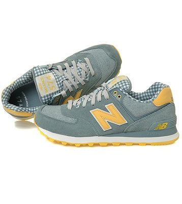 release date: e35ab da009 New Balance 574 (Picnic Pack) Chambray / Light Yellow ML574VTS