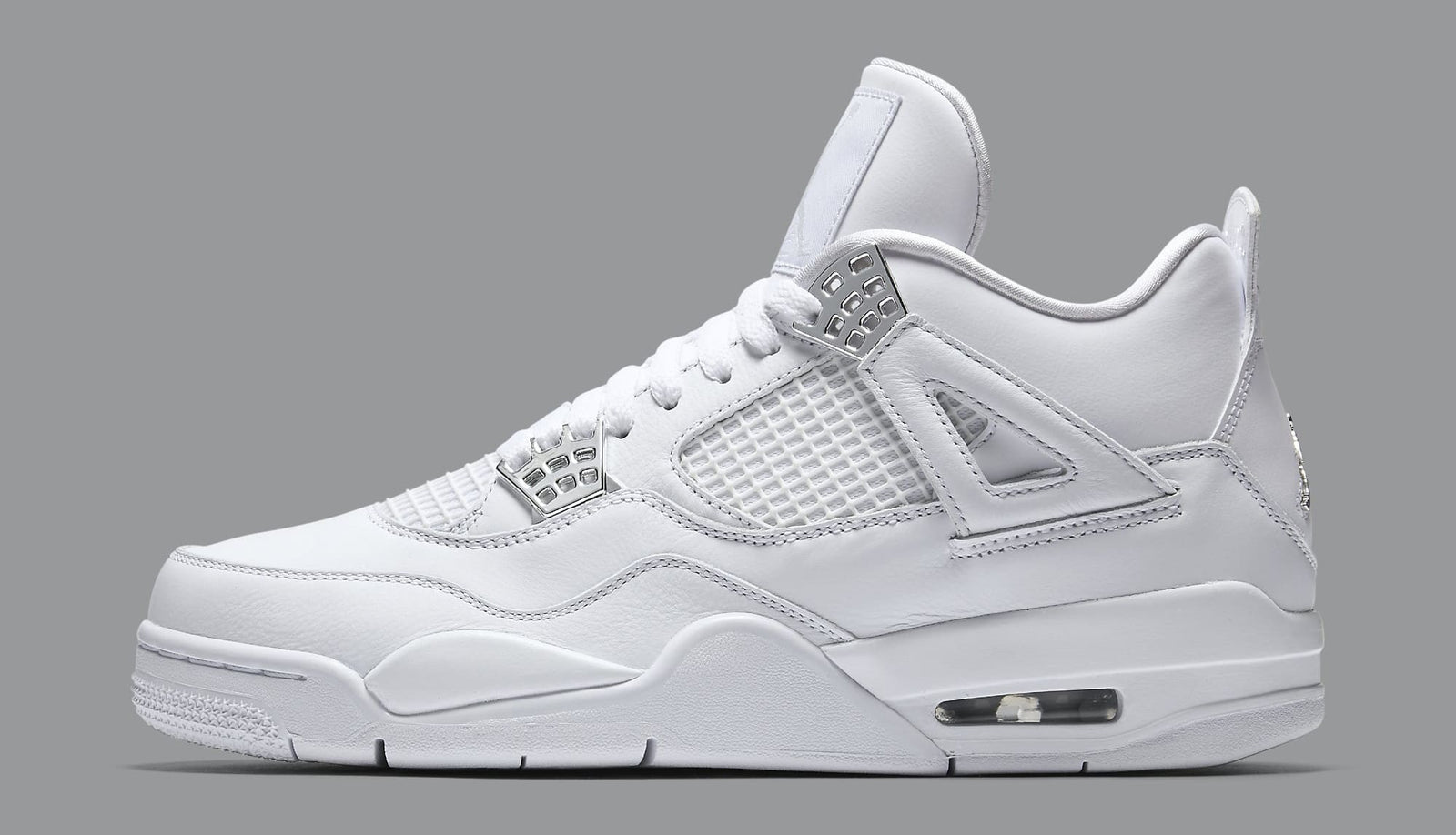 White Air Jordan Retro 4 Pure Money 308497-100