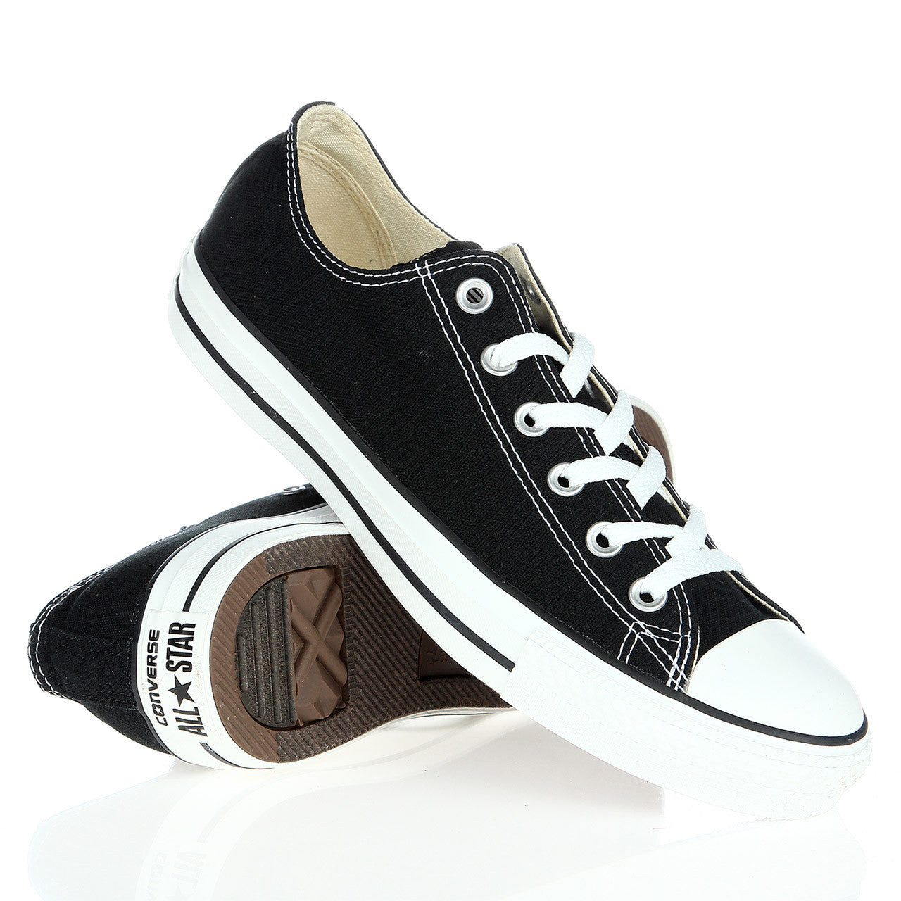 f79080b0142a75 Converse Chuck Taylor All Star Shoes (M9166) Low top in Black – FOUR ...