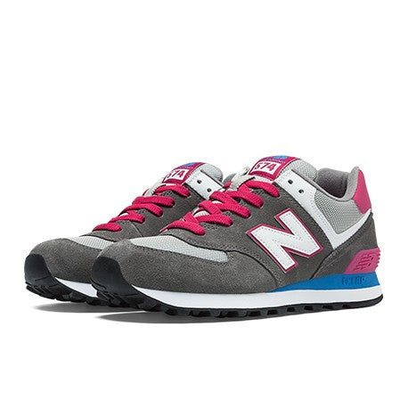 separation shoes 6ec8f 95a2c NEW BALANCE GREY/ PINK WL574CPW