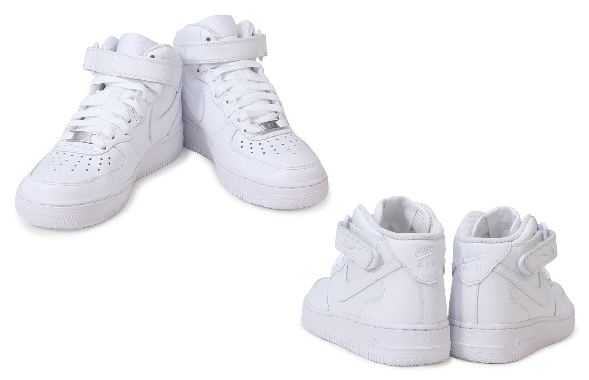 Women's Nike Air Force 1 Mid 07 Leather shoe in White 366731 100