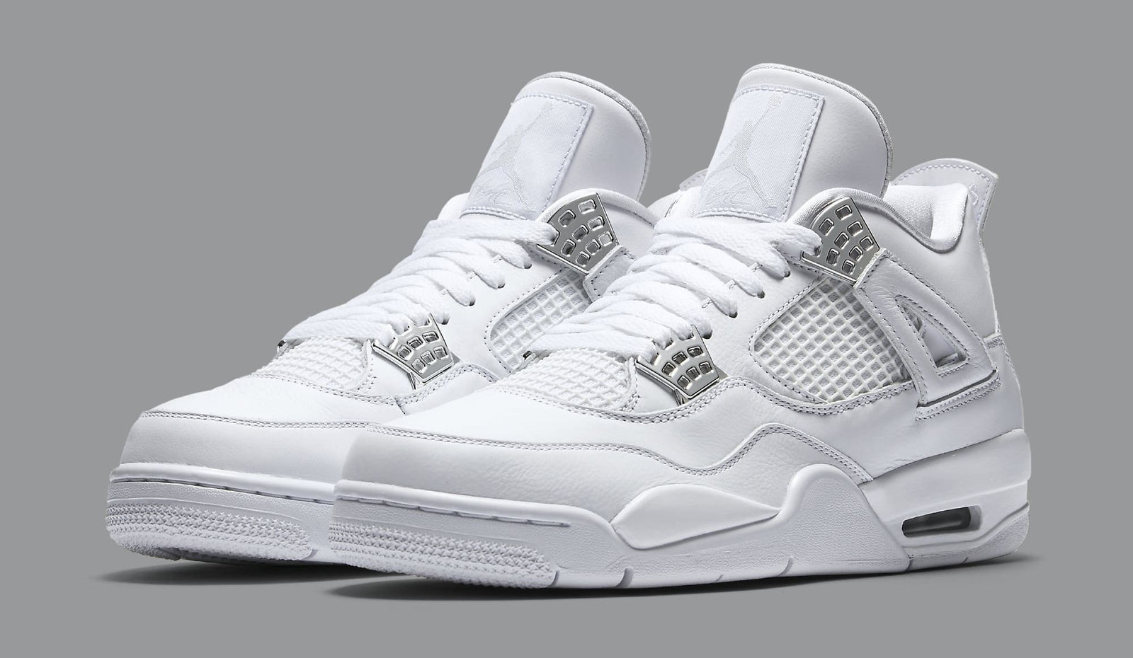 White Air Jordan Retro 4 Pure Money 308497-100 ...