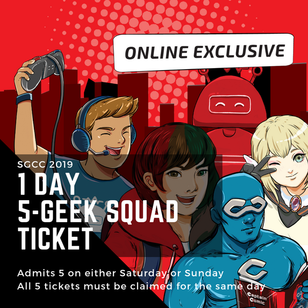 SGCC 1 Day 5-Geek Squad Ticket
