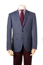 Modern Blue Merino Wool Jacket by Daniel Hechter