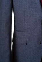 Ticket Pocket detail on men's wool jacket