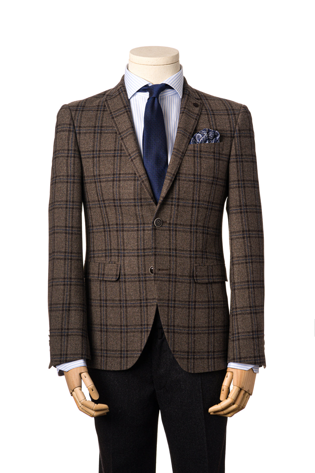 Shape Brown check Tweed Jacket by Daniel Hechter