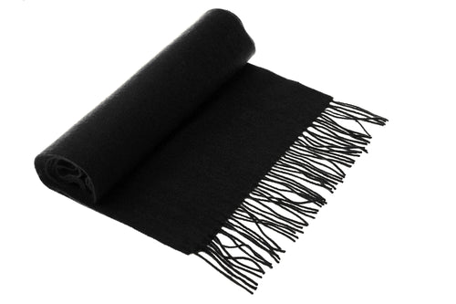 Black Wool & Cashmere Scarf
