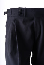 Detail of Navy Blue Wool sartorial trousers