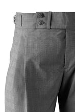 Detail of Grey check cotton sartorial trousers