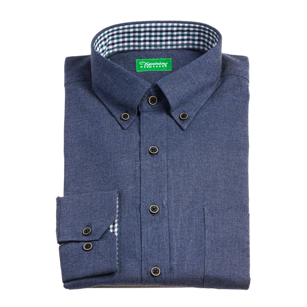 Christakis Weekender Blue RAF Flannel men's shirt with button-down collar