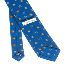 Napoli Royal Blue Printed Grenadine Silk Tie
