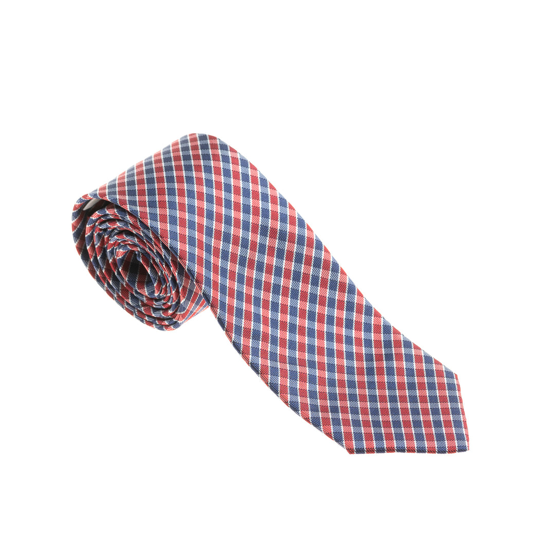 Brera Blue & Red Check Silk Tie
