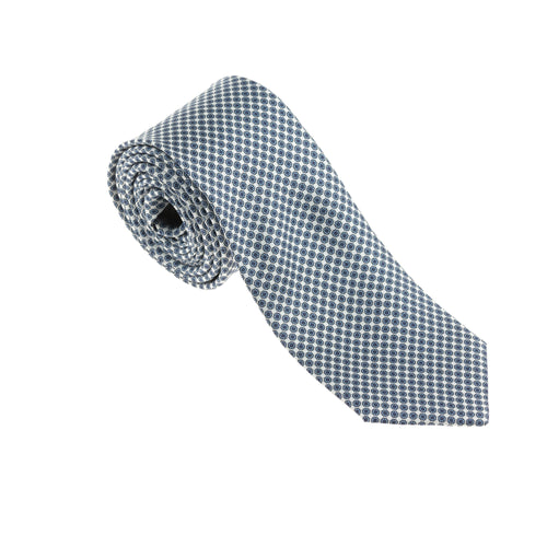 Brera Blue & White Japanese Flower Silk Tie