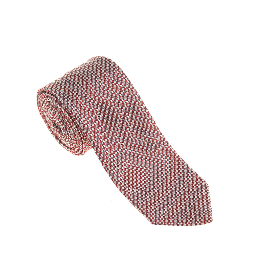 Brera Red Pattern Silk Tie
