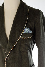 Pocket Detail of handmade men's smoking jacket