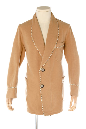 Sand Wool Men's Smoking Jacket handmade by Christakis Athens