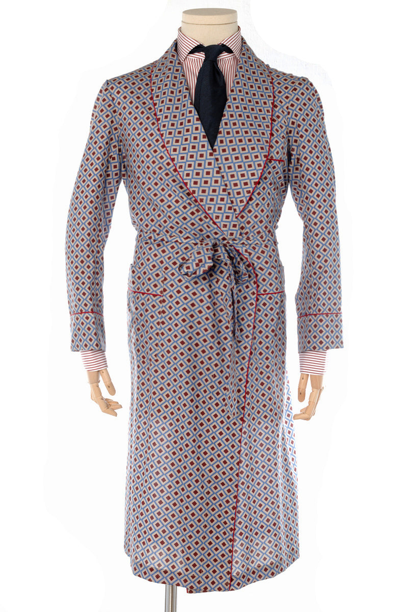 Windsor Bronze Pattern Cotton Dressing Gown