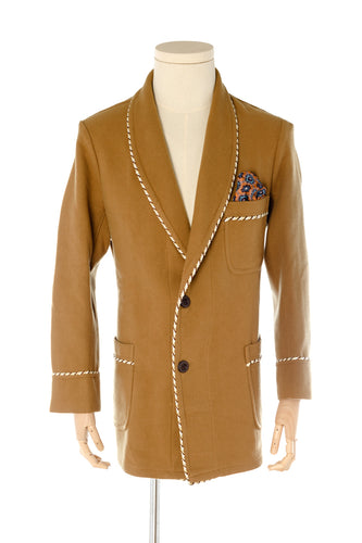 Astaire Camel Wool Smoking Jacket