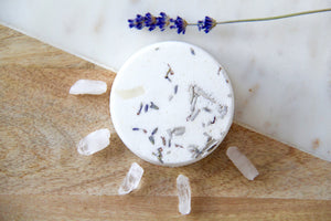 White Sage & Lavender Crystal Infused Bath Bomb