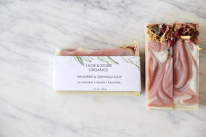 Mandarin & Geranium Natural Soap