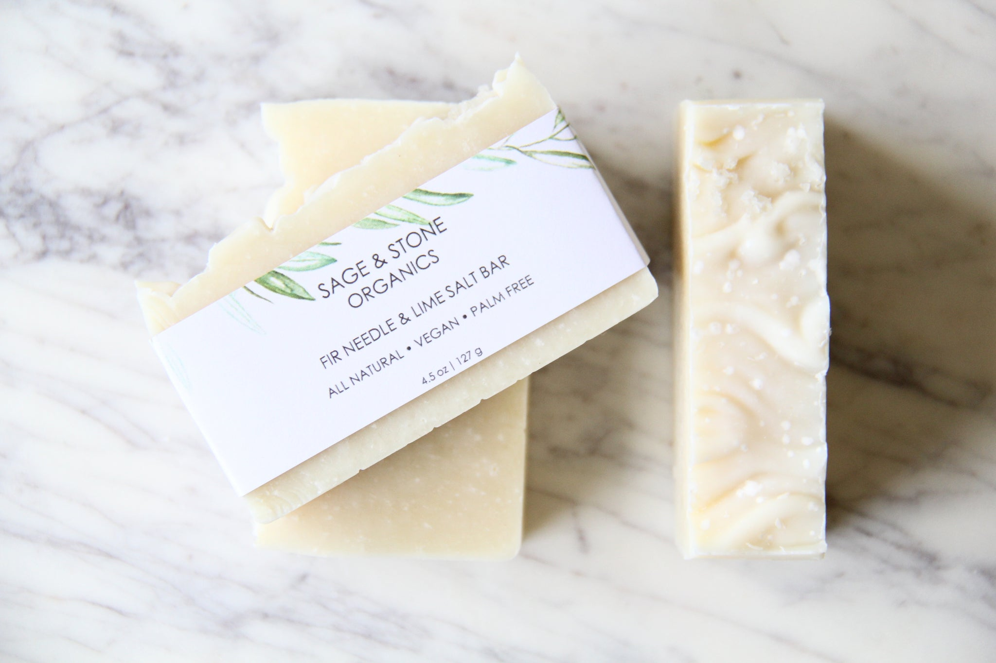 Fir Needle, Clary Sage & Lime Salt Bar Soap