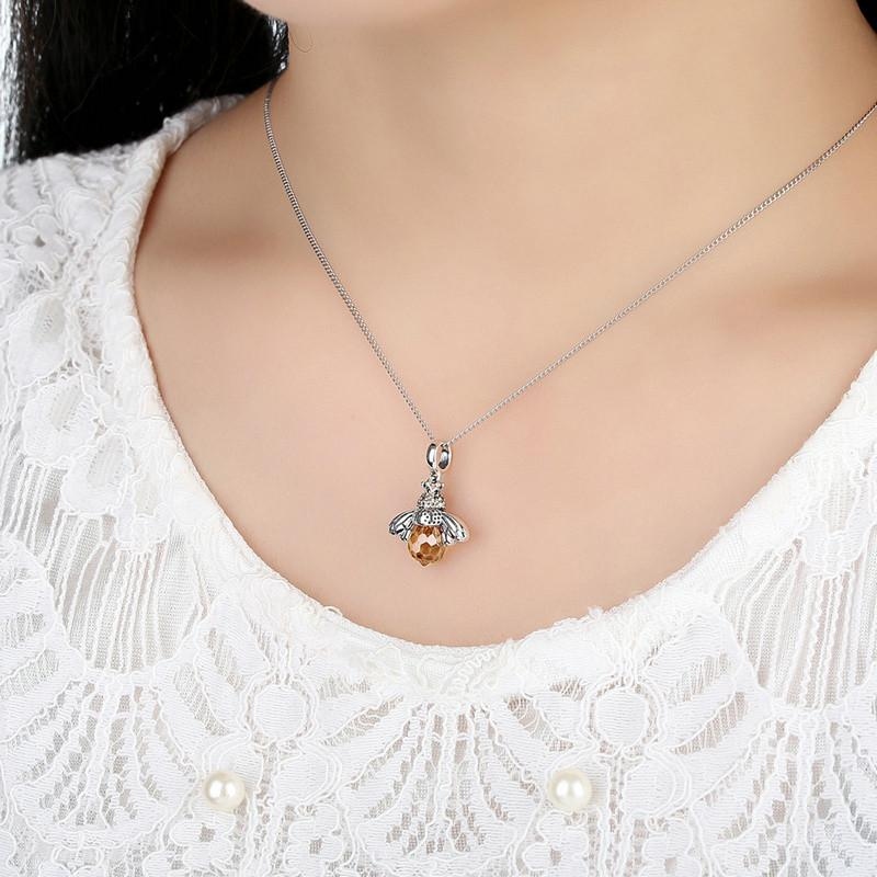 Orange bee animal pendants necklace trudy malik orange bee animal pendants necklace next aloadofball Image collections
