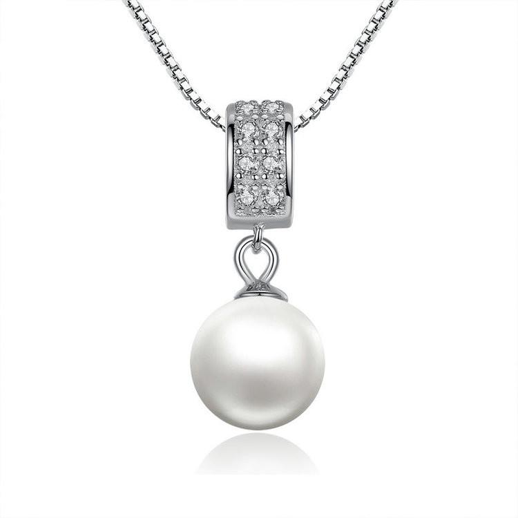 Necklace sterling silver pearl pendant necklace trudy malik silver pearl pendant necklace next aloadofball Gallery