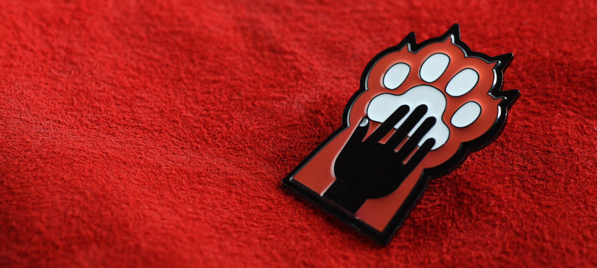 Furries Enamel Pin Kinky Merit Badge