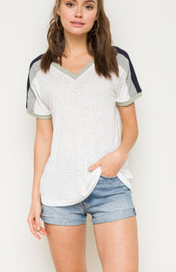 Mixing It Up Color Block Tee