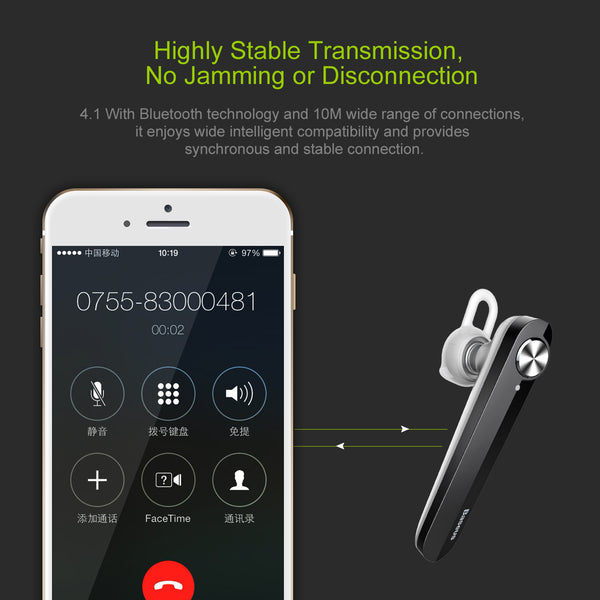 Wireless Bluetooth Headset V4.1  With Microphone Earphone For Phone