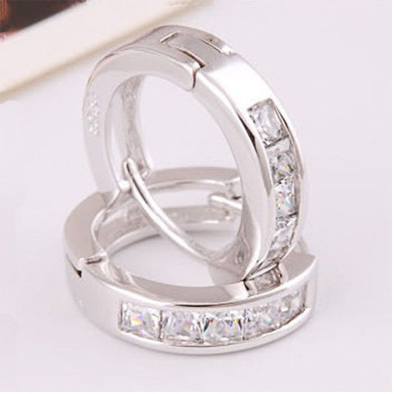 New Fashion Silvering Earring Plated Small Round Huggie Beautiful Earrings For Women #LSW