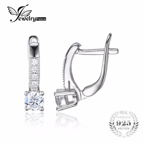 1ct Clip Earrings 925 Sterling Silver Wedding Jewelry For Women Fashion  Gift