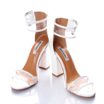 Super High Women Pumps Sexy Clear Strap Summer Sandals Party