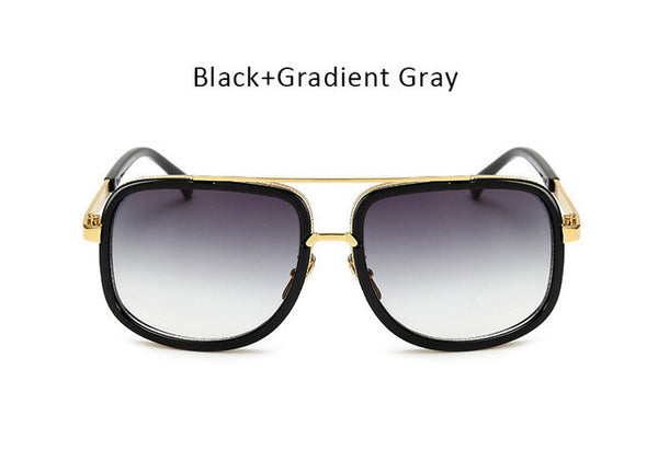 Men Fashion Square Sunglasses Women Trendy Celebrity Mirrored