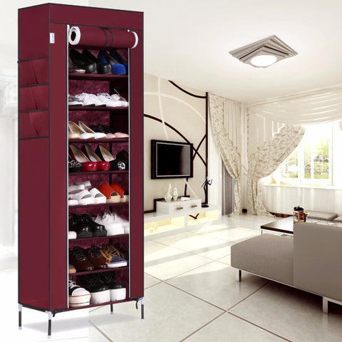 Shoe Cabinet Racks Storage Large Capacity Home Furniture  Simple 9 Layers