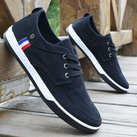 New Fashion Breathable Canvas Mens Shoes Lace-Up Casual Denim