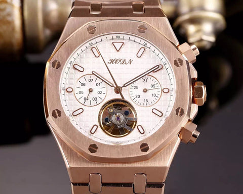 Automatic Mechanical Watches  Stainless Steel Transparent Top Luxury  Men Skeleton