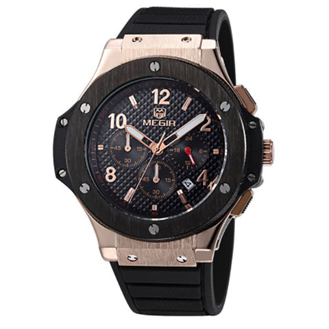 Quartz Men Watch Big Dials Silicone Sports Military Watches