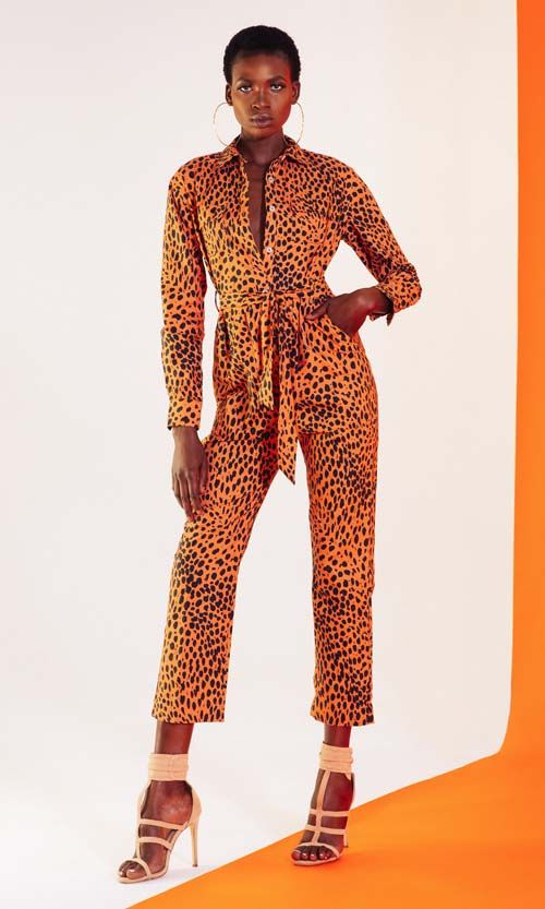 Rio Leopard Button Front Jumpsuit
