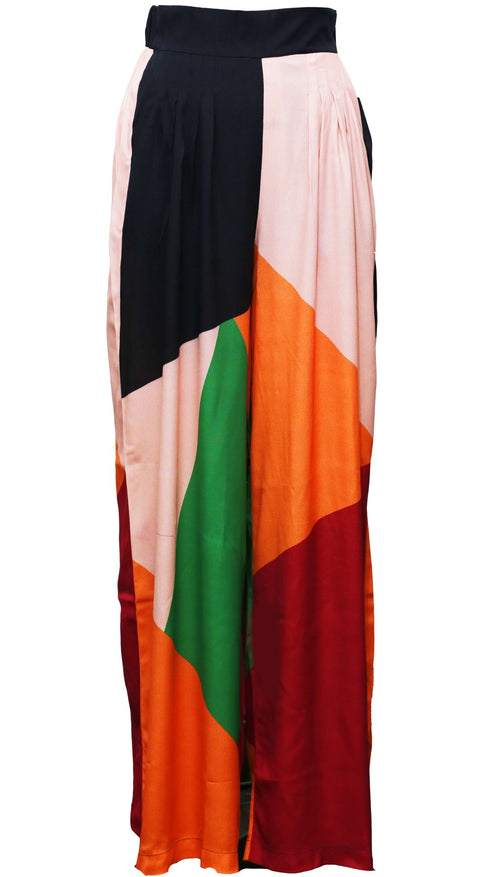High Waist Wide Leg Pant  | Color blocked