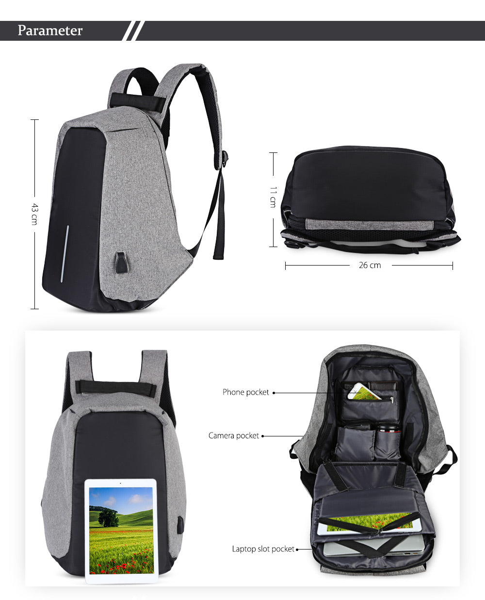 af11538f0684 Best Anti Theft Usb Charging Travel Backpack Review